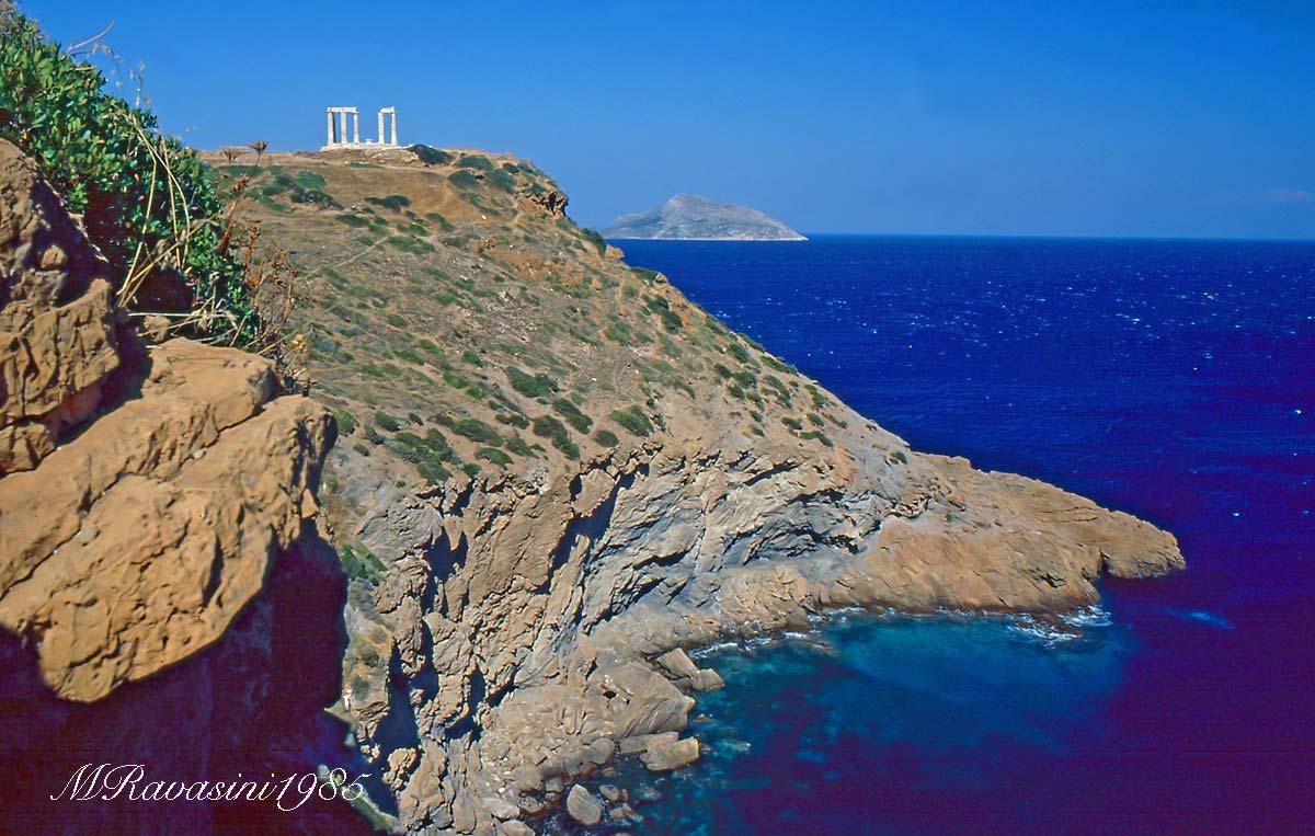 Grecia I resti del tempio di Capo Sunio, Luglio 1985