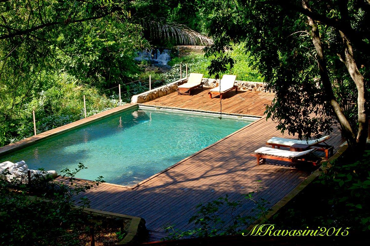La piscina dopo la risostruzione